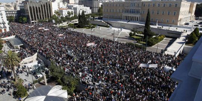 General strike in Grece